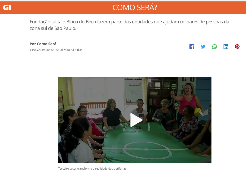 Fundação Julita é destaque no Programa