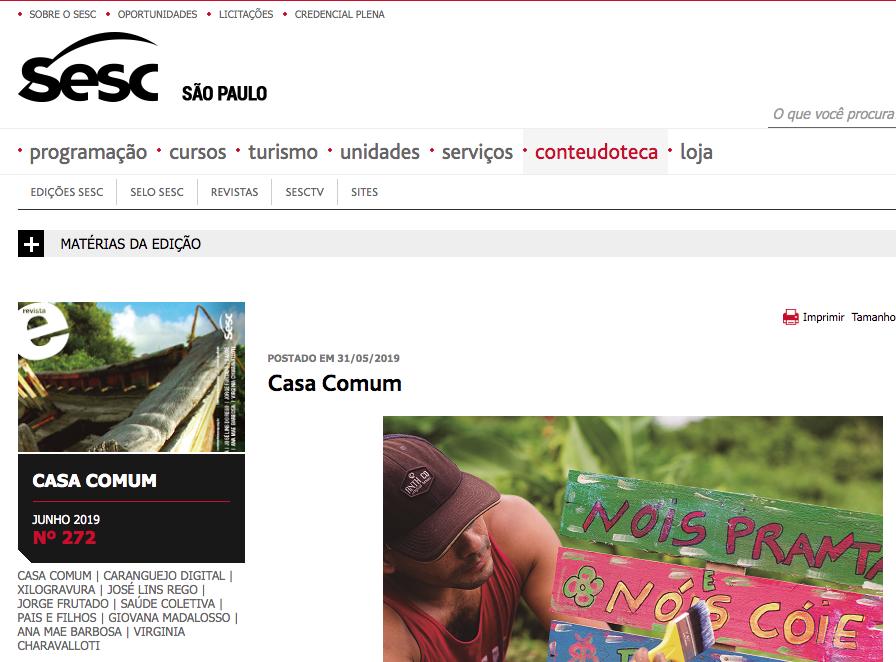 O Centro de Educação Ambiental da Fundação é destaque em revista do SESC